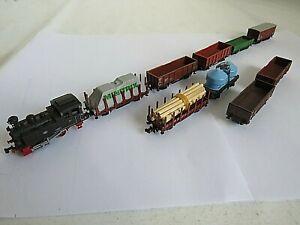 Arnold Spur N Dampflok  mit Neun verschiedenen Güterwagen