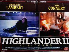 fotobusta lobby card Highlander II Il ritorno Highlander II Quickening lambert