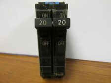 * General Electric 20 Amp 2 Pole Circuit Breaker Thqp220 (Chip) F-205A