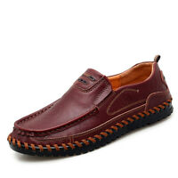 Mens Driving Boat Shoes Casual Cowhide Moccasins Slip On Loafers Flats Shoes New