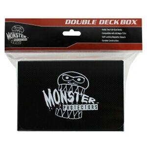 Monster Protectors Black Double Deck Card Storage Box MONDDMBK