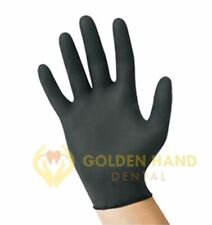 BLACK Latex Gloves Size M L XL Exam Grades Gloves 4 Mil ISO 9001 Multi - Purpose