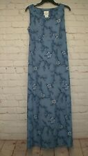 Fashion Bug Womens Blue Sleeveless Size 12 Maxi Dress