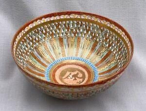 Antique Japanese 'Thousand Faces' Porcelain Bowl Signed