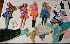 Lot of Vintage 4 Mattel Barbie Dolls, Clothing & Accessories-2007 PA, 1966, 1999