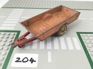 RARE VINTAGE DINKY # 27B/320 HALESOWEN HARVEST TRAILER FARM DIECAST RED/TAN