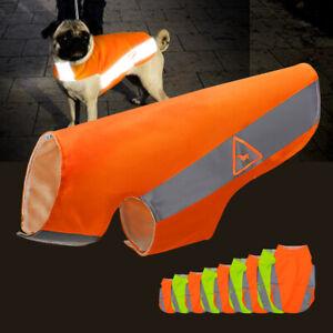 Dog Safety Vest Reflective High Visibility Coat Small Medium Large Orange Yellow