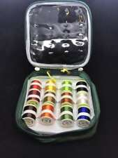 12x Large Spools of Floss in a Plastic Protective Bag Different Colours