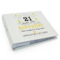 """Happy 21st Birthday Photo Album - Holds 80  6"""" x 4"""" photos FL29921"""