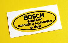 BOSCH 6V Yellow Coil Sticker Decal Vintage PORSCHE 356 911 VW BEETLE T2 Camper