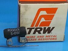 TRW IRC 2000 2K OHM 5 - 8 WATT NOS RESISTOR WIREWOUND METAL GLAZE  GUITAR AMP