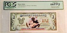1999A $1 Mickey Disney Dollar, Graded By PCGS Gem New 66PPQ, A00692822A