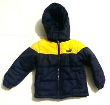 PUMA 3T zip front jacket coat yellow and blue nice FREE SHIPPING