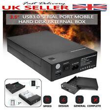 USB 3.0 2.5''/ 3.5'' 8TB SATA Hard Drive Enclosure SSD HDD Disk Case UASP OTB UK