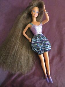 Vintage Loose 1991 Mattel Totally Hair Brunette Barbie Play Or OOAK NR