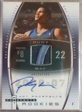 2006-07 Fleer Hot Prospects #67 Rudy Gay JSY AU RC /150 AU RC (Grizzlies)