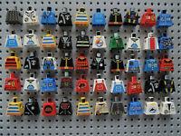 Lego 50 x Figur: Torso Jacke Oberkörper 973 City System Space Piraten Town  OK1