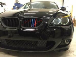 BizTech® Clip In Grill inserts Stripes For BMW 5 Series 04-10 E60 E61 M Power