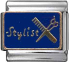 STYLIST HAIR BEAUTY Enamel Italian 9mm Charm NC213 Fits Nomination Classic