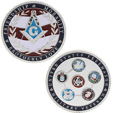 Freemasons Military Commemorative Coin Collection Art Gifts Souvenir Silver