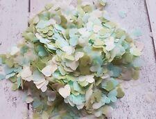 MINT ,LIGHT OLIVE GREEN,IVORY  HEARTS CONFETTI MIX WEDDING DECORATION/2 HANDFULS