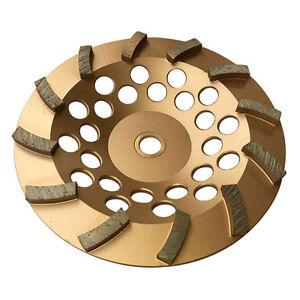 "7"" Concrete Grinding Cup Wheels 12 Diamond Abrasive Seg 7/8""-5/8"" Arbor"