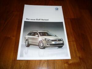 VW Golf Variant Prospekt 05/2009