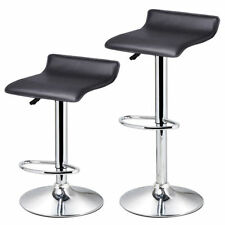 Swivel Faux Leather Chair Adjustable Bar Stools Office Gas-lift Home