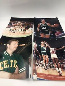 RARE 1990 Official NBA Hoops Larry Bird 8X10 Picture Photo Glossy Lot Rodman