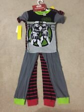 STAR WARS DARTH VADER BLACK RED GRAY GREEN 4-Piece Pajama Set Boys Size 8 NEW
