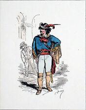 TYPE de LA COMMUNE (1871): UN CITOYEN MOLDO-VALAQUE -Gravure du 19e (de Bertall)