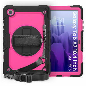 """For Samsung Galaxy Tab A7 10.4"""" T500/505 Hybrid Armor Case With Screen Protector"""