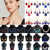 Fashion Women Pendant Acrylic Choker Chunky Statement Chain Bib Necklace Jewelry