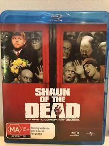 SHAUN OF THE DEAD BLU RAY 🍿 SIMON PEGG - ZOMBIE COMEDY - Region B