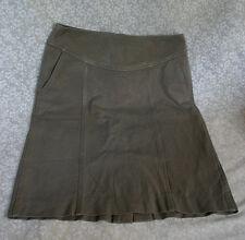 Banana Republic Women's Skirt Size 4 Brown Beige Stretch Back Zip Pockets