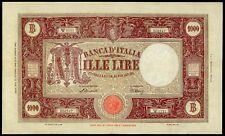 ITALY REPUBLIC 1000 LIRE BARBETTI 1946  LARGE SIZE NOTE VF++/aXF  RARE BANKNOTE!