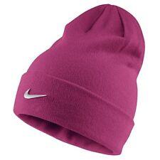 Nike Youth Beanie Metal Swoosh Vivid Pink/Metallic Silver