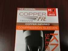 New Copper Fit Freedom Size Medium Copper Infused Compression Knee Sleeve 13-14""