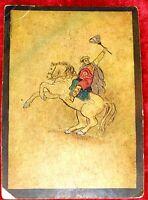 5 CARTES DE JEU UKIYO-E. PEINTURE SUR CARTON. JAPON. XIXÈME SIÈCLE