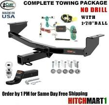 """FITS 2008-2017 NISSAN ROGUE, CLASS 3 CURT TRAILER HITCH PACKAGE w/ 1 7/8""""  13204"""