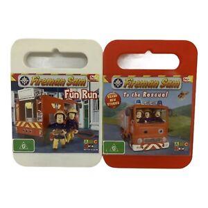 Fireman Sam DVD Bundle - Fun Run & To the Rescue! - Region 4, PAL - Good Cond.