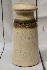 Vintage Studio Art Pottery Chimney Vase by Jersey Pottery Signed by Artist CL