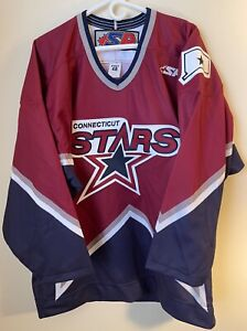 NEW Connecticut CT Stars Authentic Hockey Jersey 48 Pro Fight Strap NO NAME