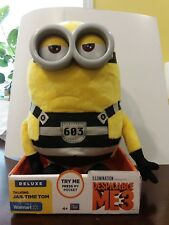 Despicable Me 3 Deluxe Talking Minions Jail Time Tom Huggable friends *Read*