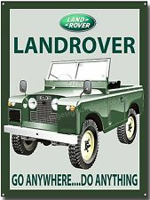 LANDROVER SERIES 2 SWB METAL SIGN.GO ANYWHERE DO ANYTHING.CLASSIC JEEPS (A3)