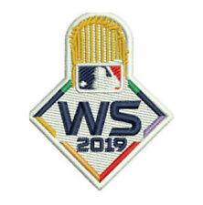 2019 WORLD SERIES CAP PATCH HOUSTON ASTROS WASHINGTON NATIONALS MLB LOGO TROPHY