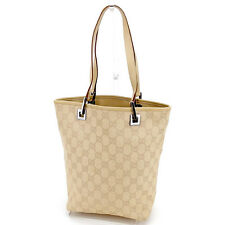 596e9399ae5 Gucci Tote bag GG Beige Black Woman unisex Authentic Used T1852