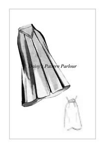 Vintage Skirt Sewing Pattern 1940s Slightly Flared Skirt Eclair Coupe Paris VTG