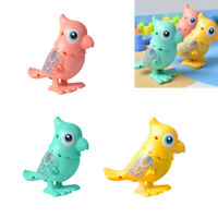 3Pcs Plastic Funny Wind-up Toy Parrot Walking Jumping Kids Toys Party Favors