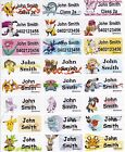 96 Pokemon GO Personalised Name Label Stickers Med 30*13mm Dishwasher Safe